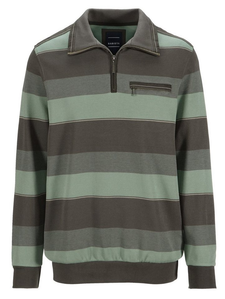 Babista Sweatshirt in garngefärbter Qualität in grün-oliv