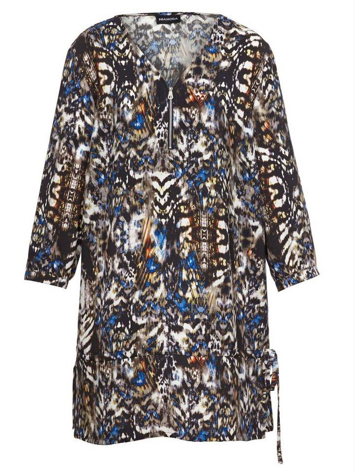 MIAMODA Bluse in Longform in multicolor