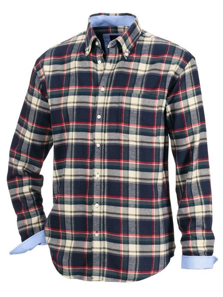 Babista Flanellhemd in wärmender Qualität in marine-rot
