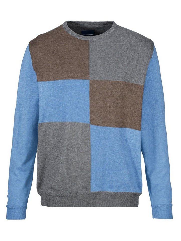 Babista Pullover mit farblichen Einsätzen im Vorderteil in blau-braun