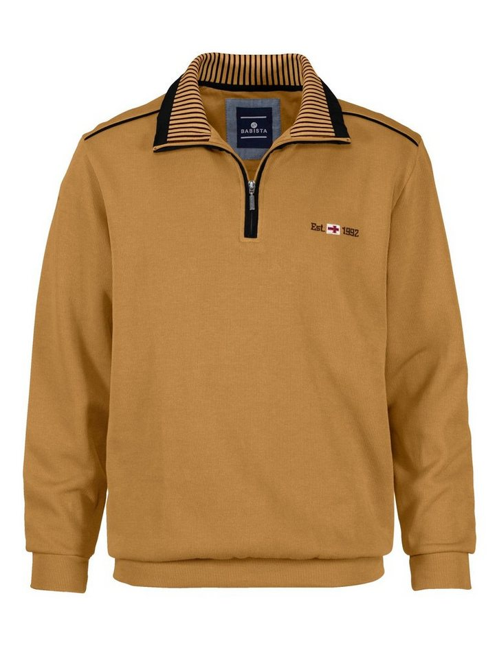 Babista Sweatshirt mit aufwändigem Kragen in maisgelb