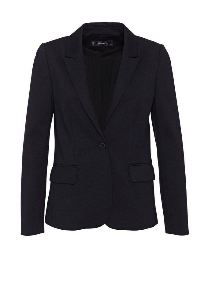 HALLHUBER Jersey Blazer mit schmalem Revers in schwarz