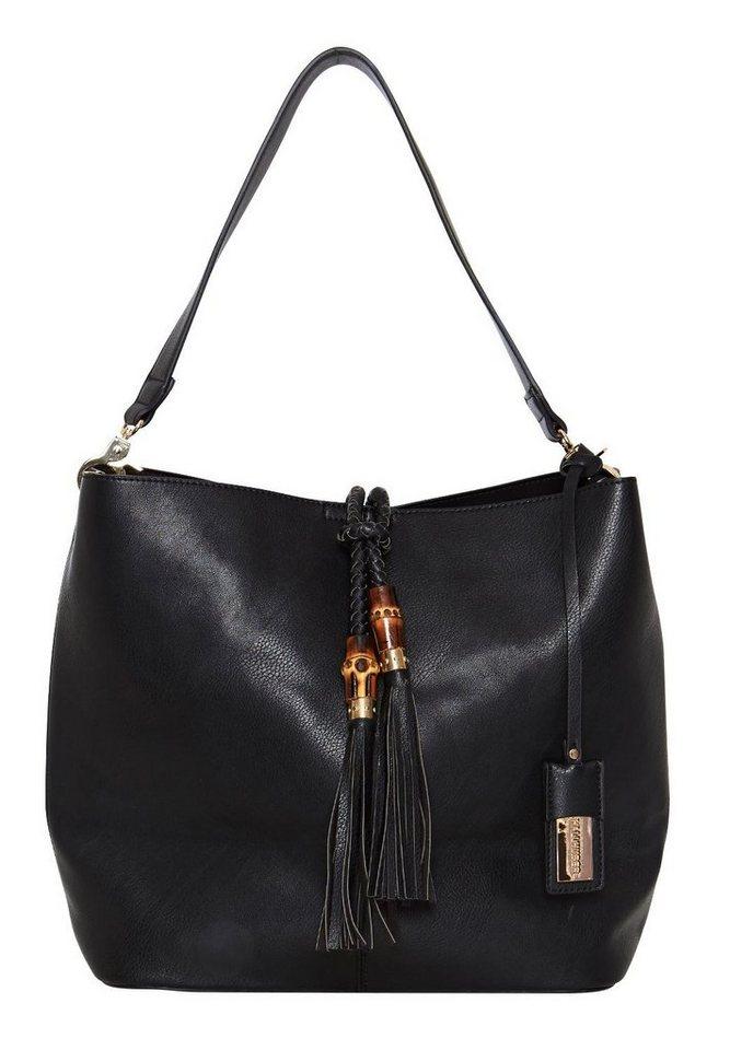 HALLHUBER Handtasche mit Quasten in schwarz