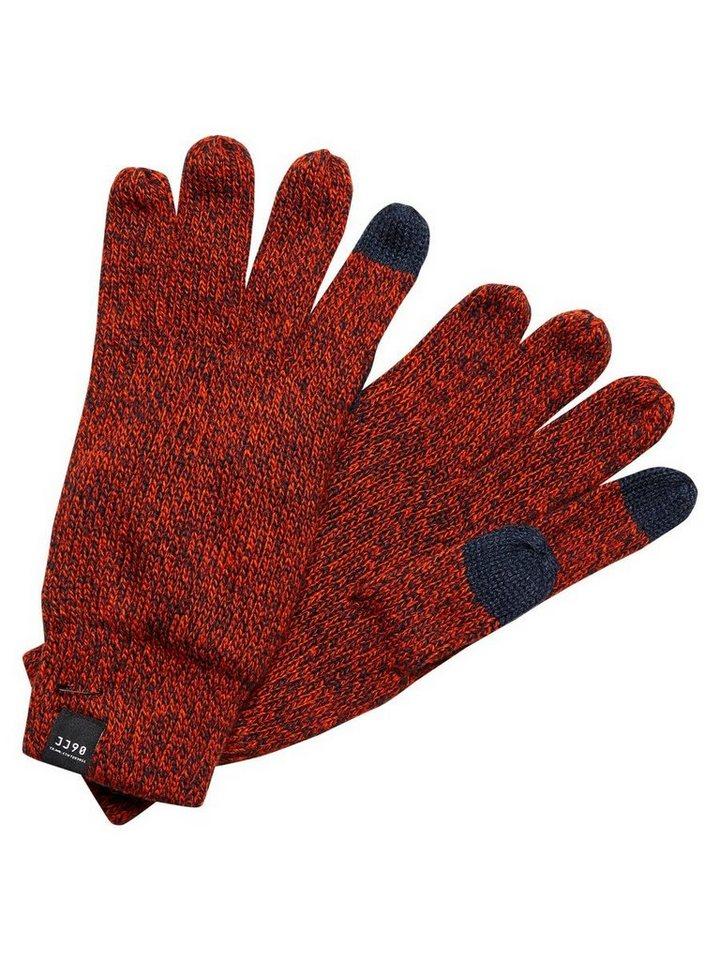 Jack & Jones Klassische Handschuhe in Cherry Tomato