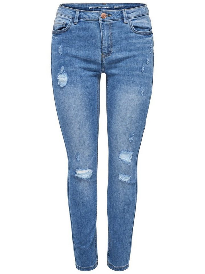 Only JDY Nome Girlfriend Straight Fit Jeans in Medium Blue Denim