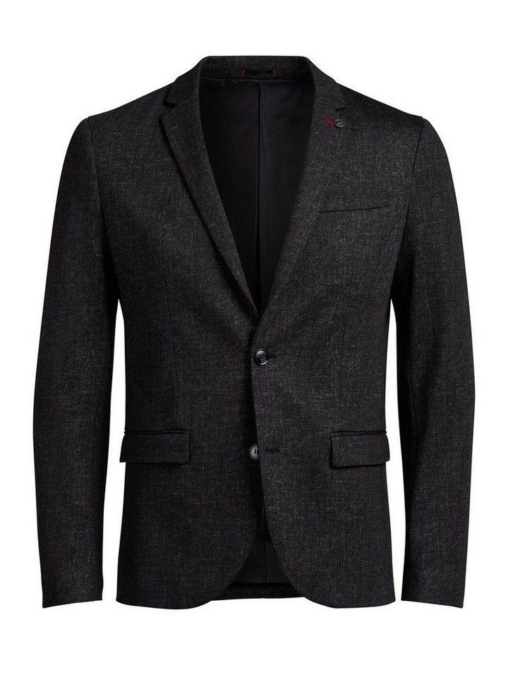 Jack & Jones Grau-Melange Blazer in Dark Grey