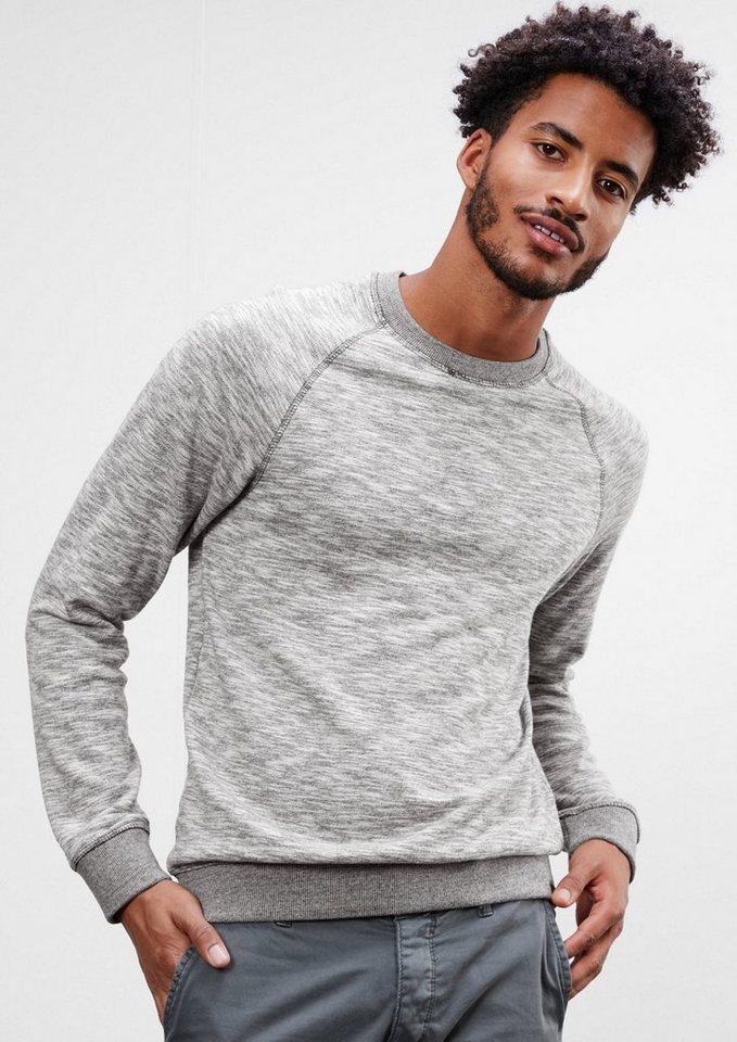 Q/S designed by Leichtes Sweatshirt in grey melange