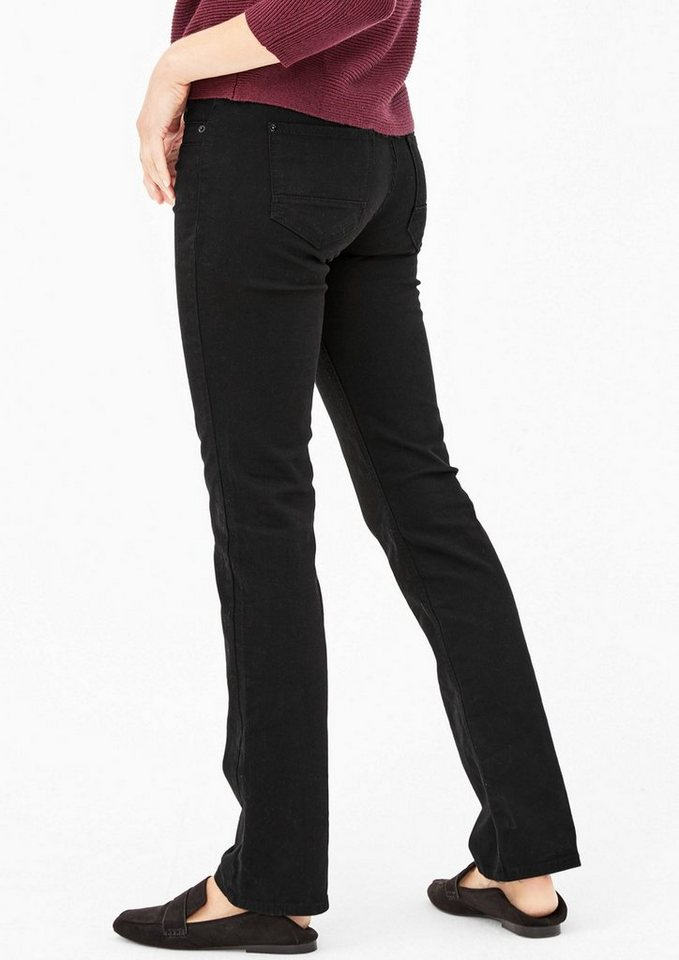 s.Oliver RED LABEL Smart Straight: Schwarze Jeans in black denim stretch