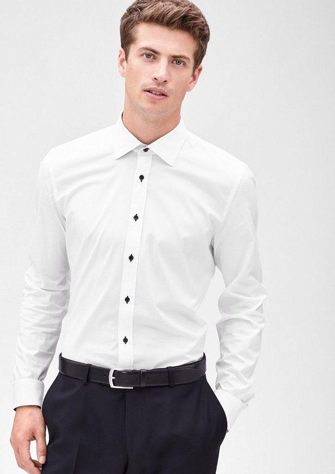 s.Oliver BLACK LABEL Slim: Schmales Businesshemd in white