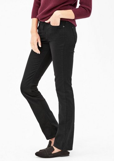 s.Oliver RED LABEL Smart Straight: Schwarze Jeans