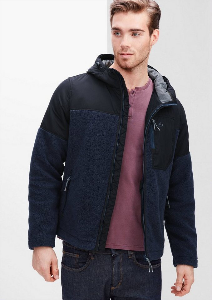 s.Oliver RED LABEL Übergangsjacke im Materialmix in deep sea