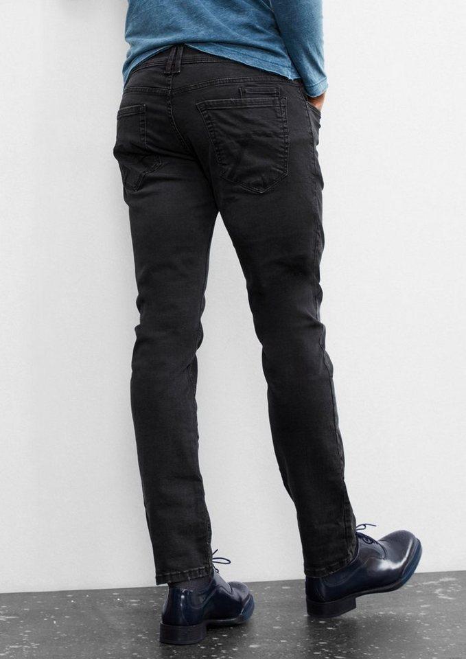 Q/S designed by Pete Straight: Dunkelgraue Denim in dark grey