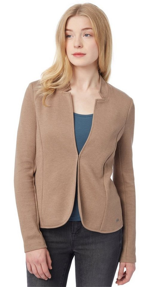 TOM TAILOR Blazer »loose shape blazer« in Cougar Brown