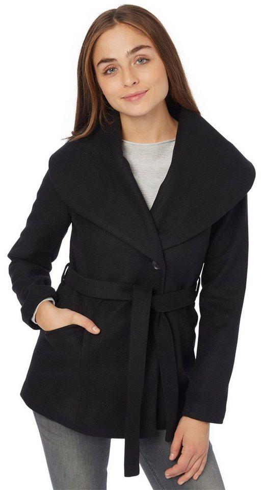 TOM TAILOR Jacke »Übergangsjacke mit breitem Kragen« in black