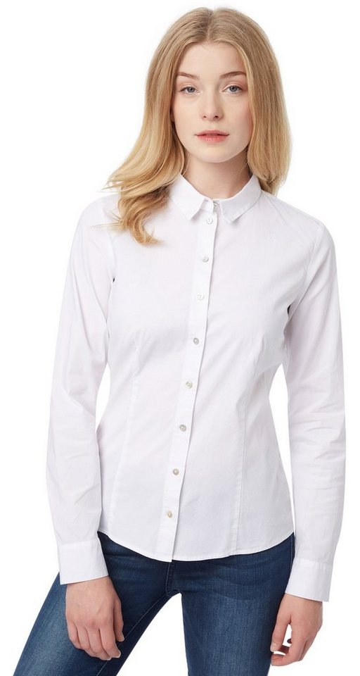 TOM TAILOR Bluse »Bluse mit Stretch-Anteil« in white