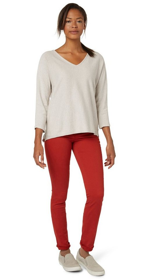 TOM TAILOR Hose »Hose mit leichter Waschung« in velvet red