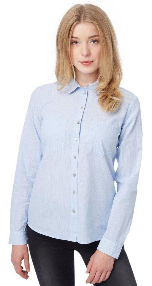TOM TAILOR Bluse »lovely stripe blouse« in light powder blue