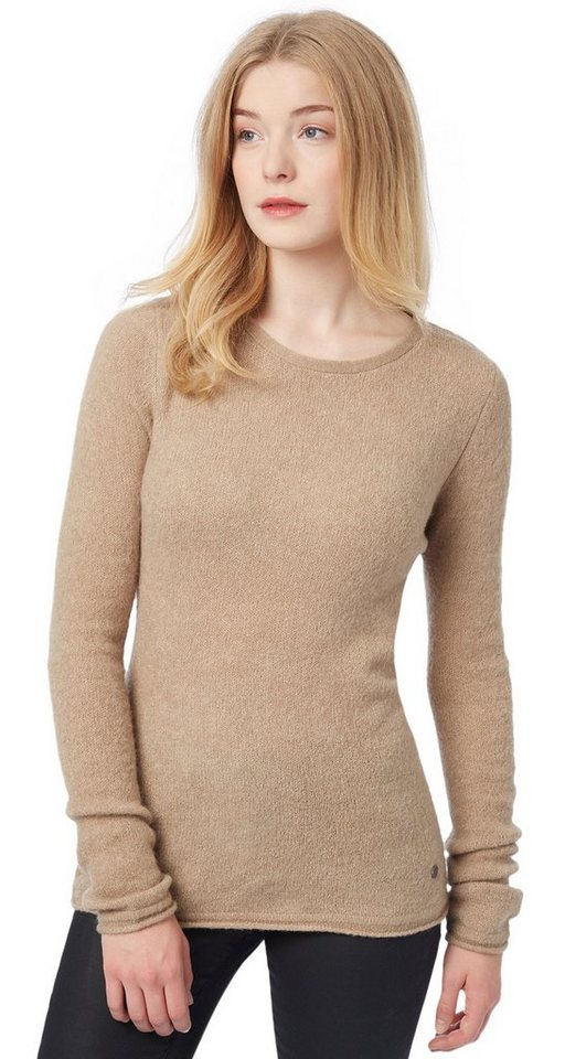 TOM TAILOR Pullover »Rundhals Pullover« in Smokey Topaz