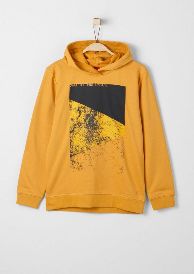 s.Oliver RED LABEL Junior Hoodie mit Frontprint für Jungen in yellow