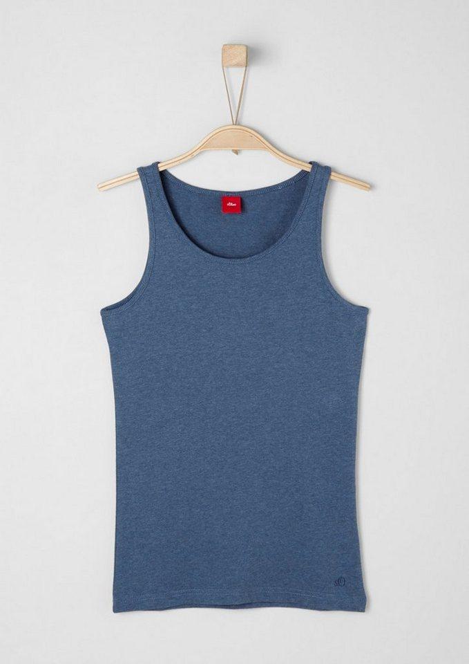 s.Oliver RED LABEL Junior Tanktop aus Jersey für Mädchen in blue melange AOP