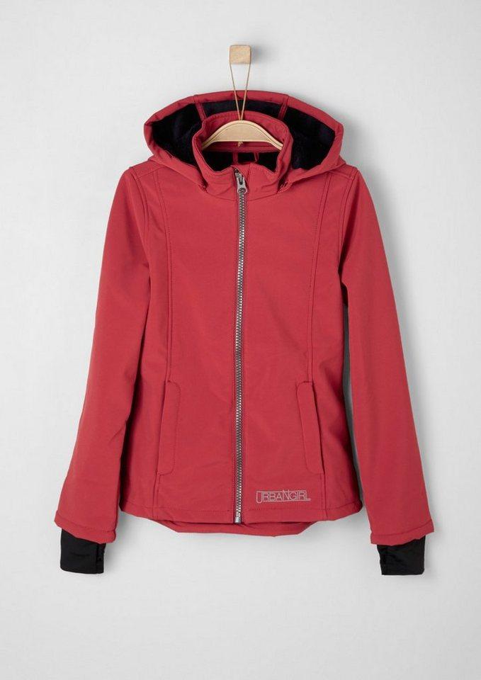 s.Oliver RED LABEL Junior Softshell-Jacke mit Plüschinnenseite für Mädchen in red
