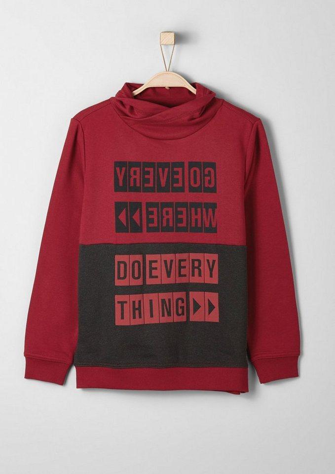 s.Oliver RED LABEL Junior Sweatshirt mit gummiertem Print für Jungen in red