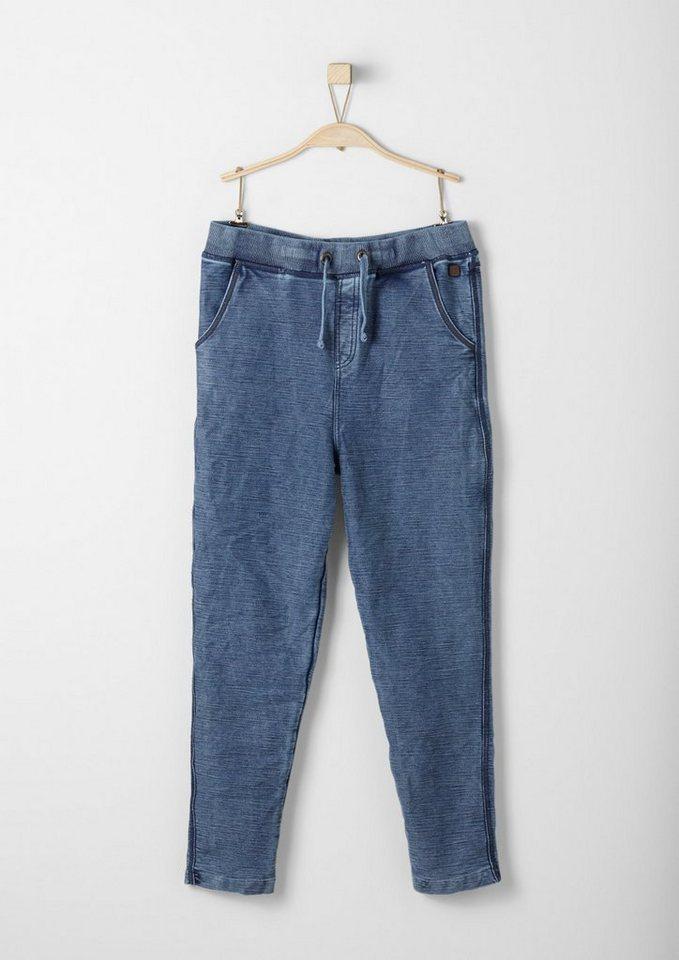 s.Oliver RED LABEL Junior Sweathose im Garment Dye für Jungen in blue