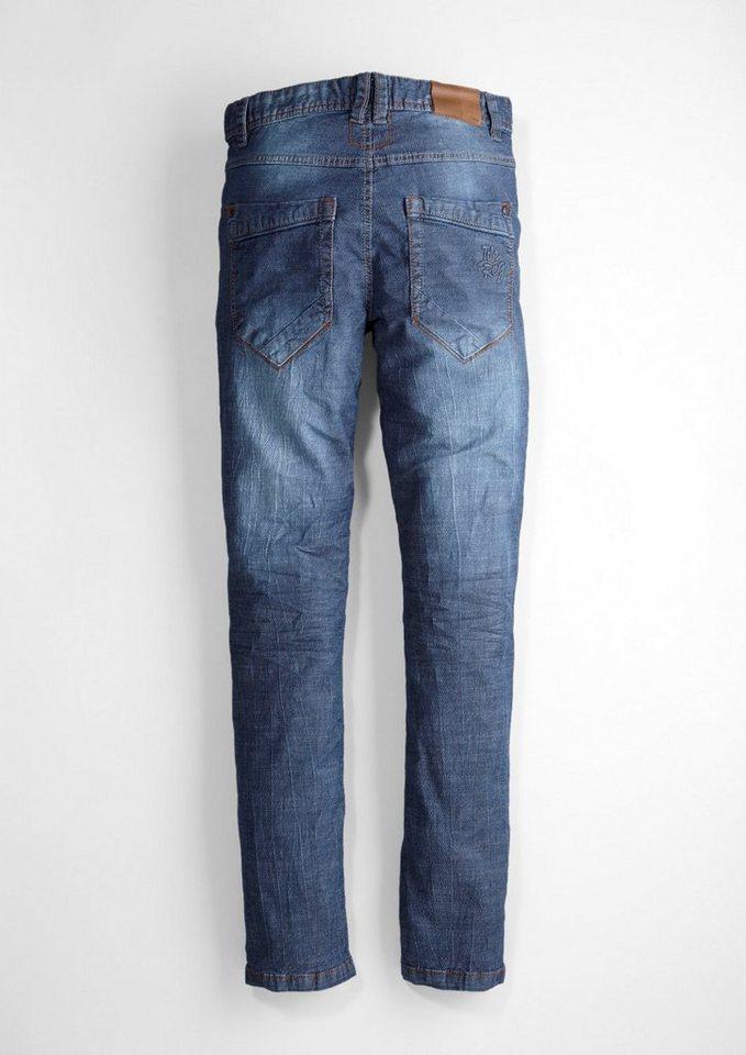 s.Oliver RED LABEL Junior Seattle: Jeans mit Knitterfalten für Jungen in blue denim stretch