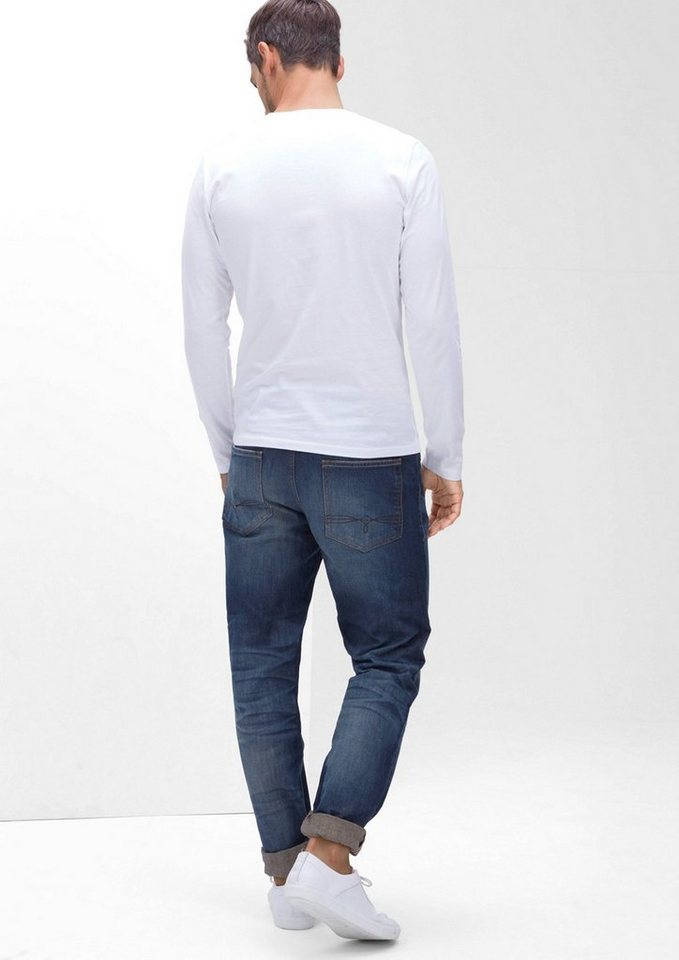 s.Oliver RED LABEL Tubx Straight: Markante Jeans in blue denim stretch
