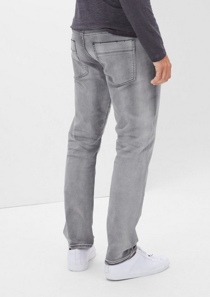 s.Oliver RED LABEL Close Slim: Jeans im Inside-out-Look in grey denim stretch