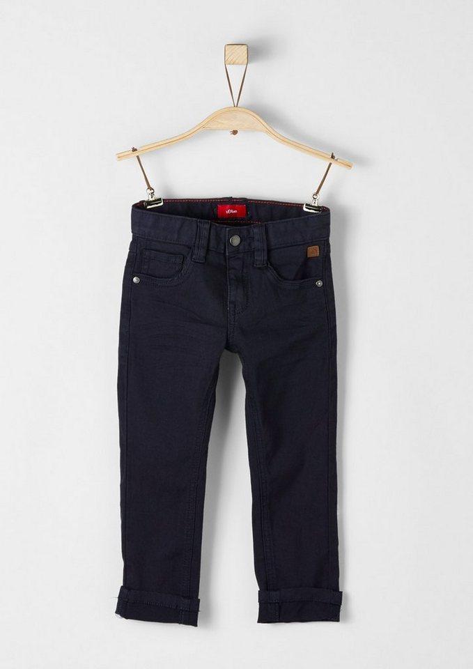 s.Oliver RED LABEL Junior Brad: Tonige Stretch-Hose für Jungen in dark blue
