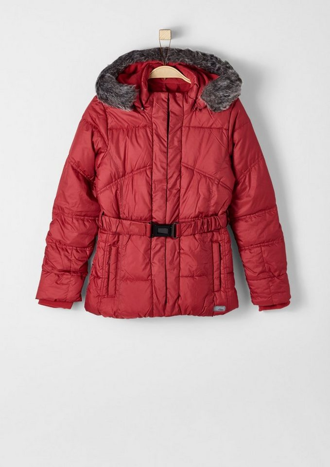 s.Oliver RED LABEL Junior Multifunktionale Winterjacke für Mädchen in red
