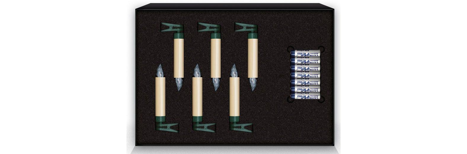 Krinner LUMIX LED-Christbaumkerzen Erweiterungs-Set, 6 er, »Lumix Classic Mini«