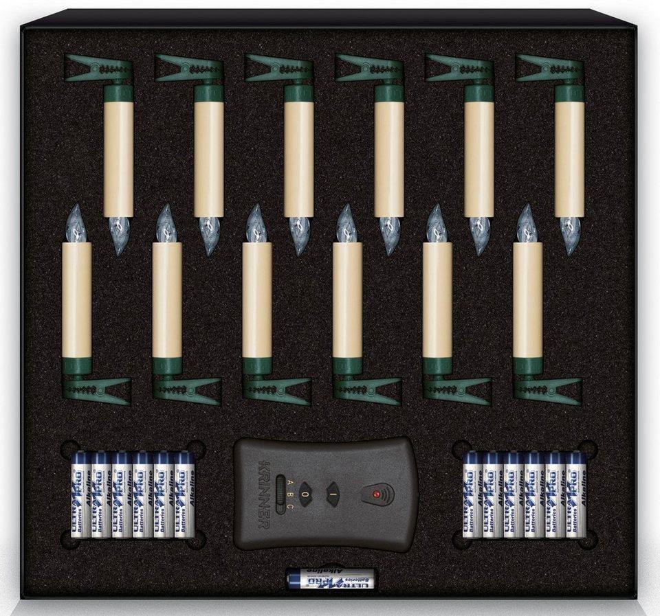 Krinner LUMIX LED-Christbaumkerzen Basis-Set, 12 er, »Lumix Classic Mini« in elfenbeinfarben