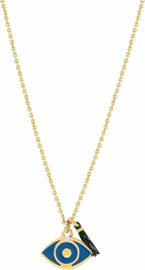 Lolaandgrace Kette mit Anhänger »SPIRITUAL: PENDANT EVIL EYE, 5167767« mit Swarovski® Kristallen in goldfarben