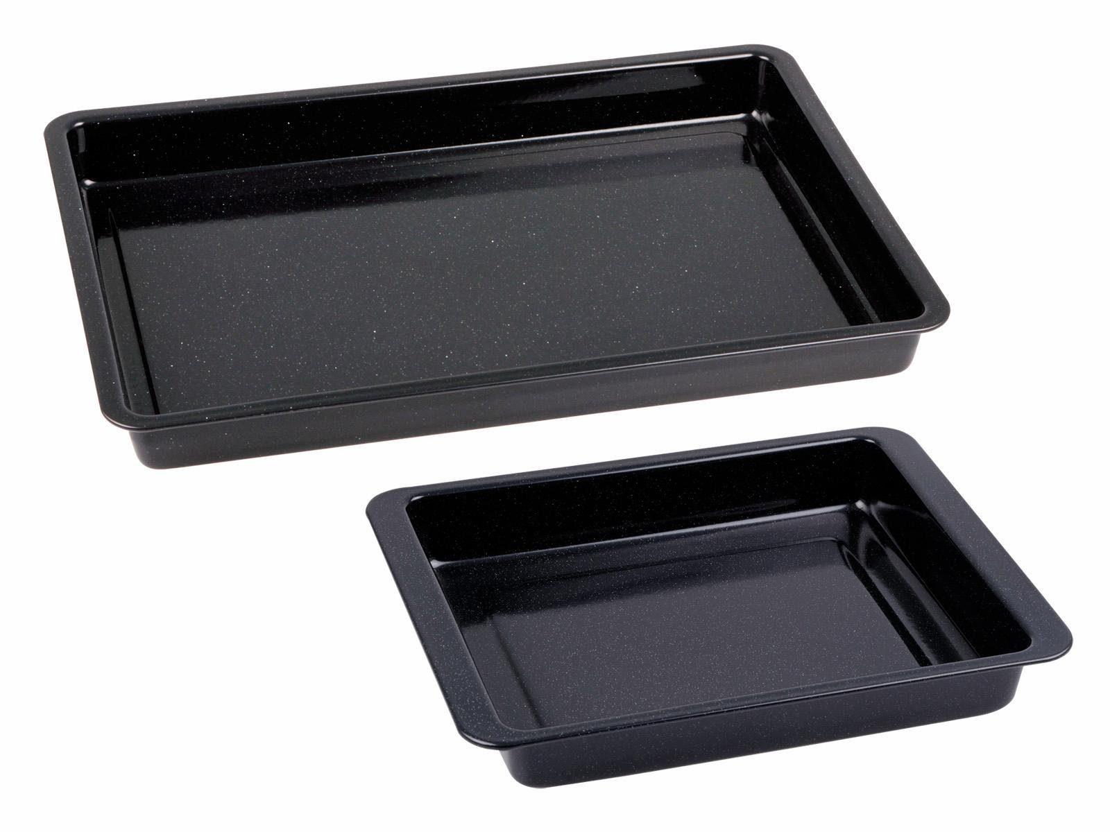 CHG Set: Backblech + kleine Ofenform, 2-teilig , »Emaille«