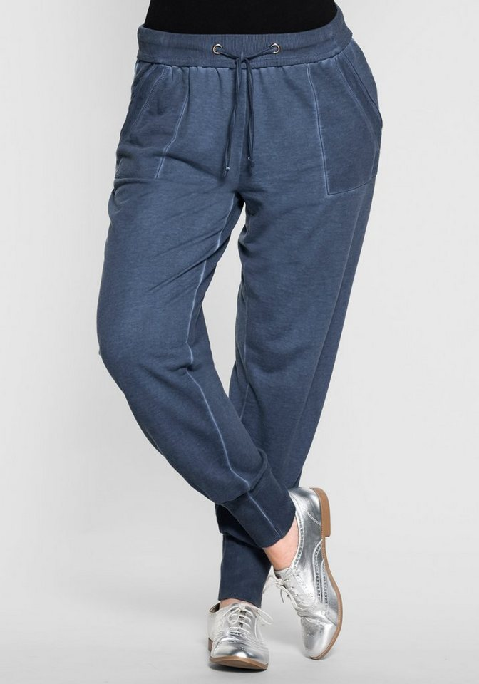 sheego Casual Weite Jogger-Pants in jeansblau