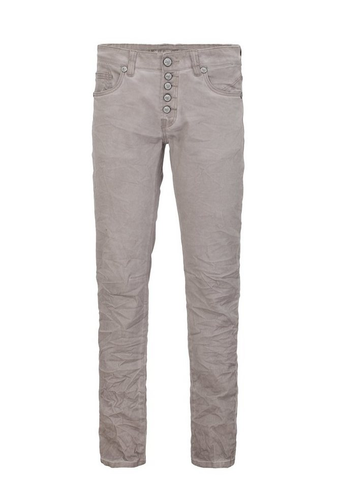 Blue Monkey Slim-fit-Jeans »Alex 4239« in grau