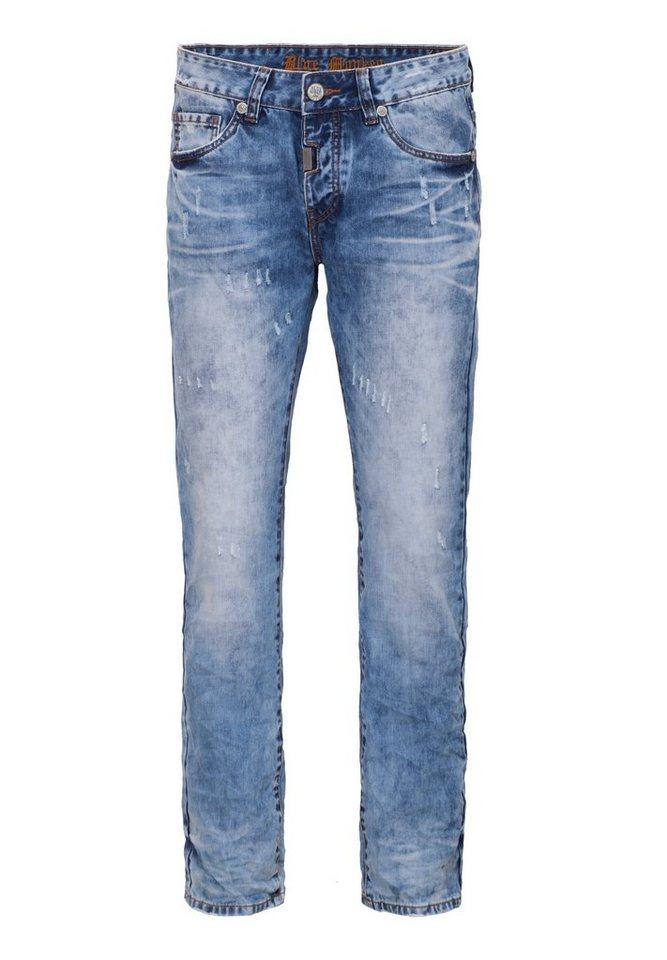 Blue Monkey Destroyed-Jeans »Tommy 4295« in hellblau