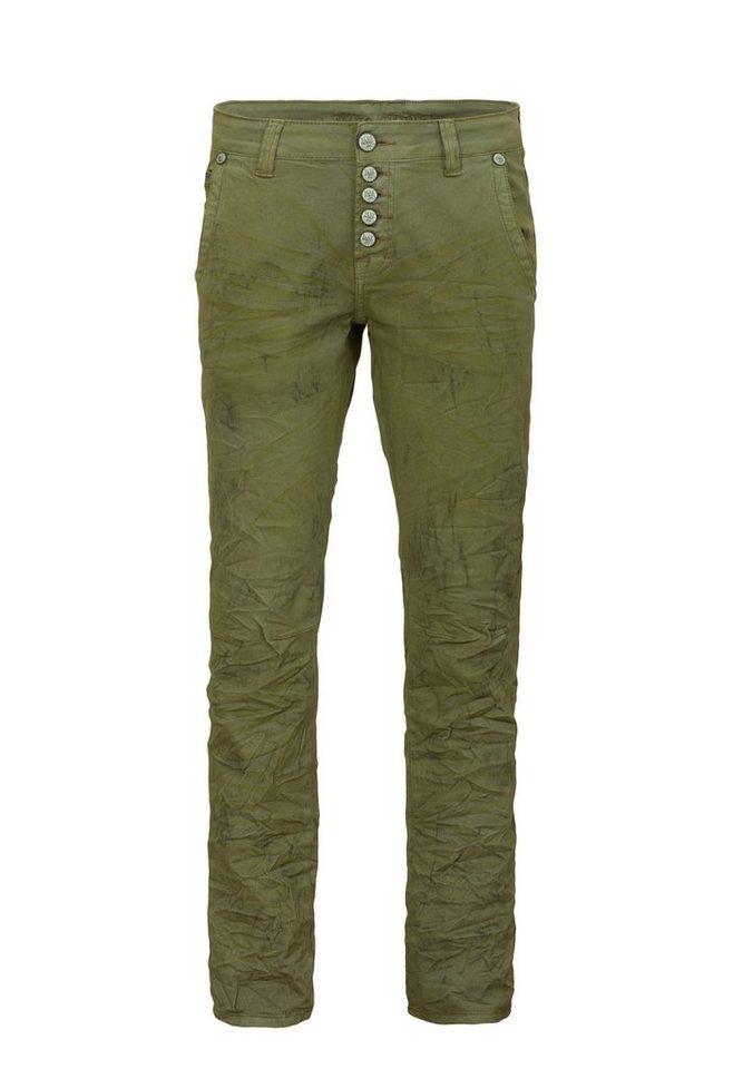 Blue Monkey Slim-fit-Jeans »Alex 4242« in olivgrün