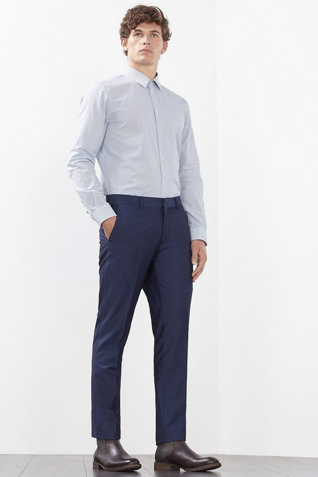 ESPRIT COLLECTION 2-Tone Hose mit fein strukturierten Streifen in BLUE