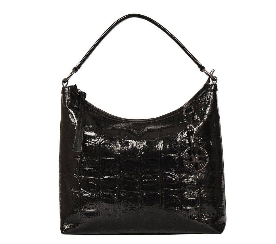Silvio Tossi Handtaschen in schwarz-bigkroko