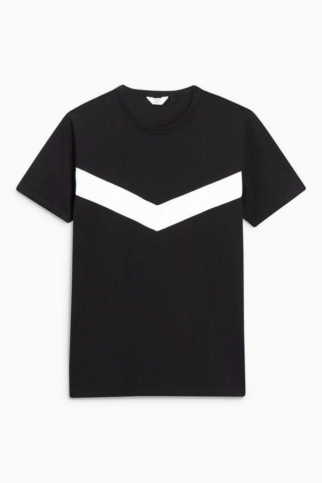 Next T-Shirt mit Chevron-Verzierung in Black