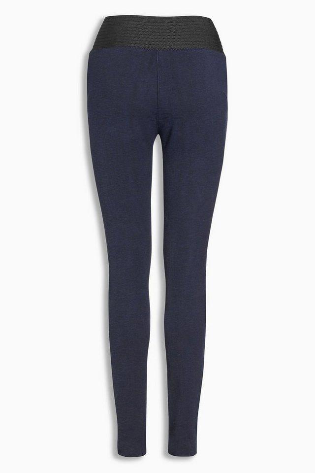 Next Leggings aus Denim mit elastischem Bund in Dark Blue