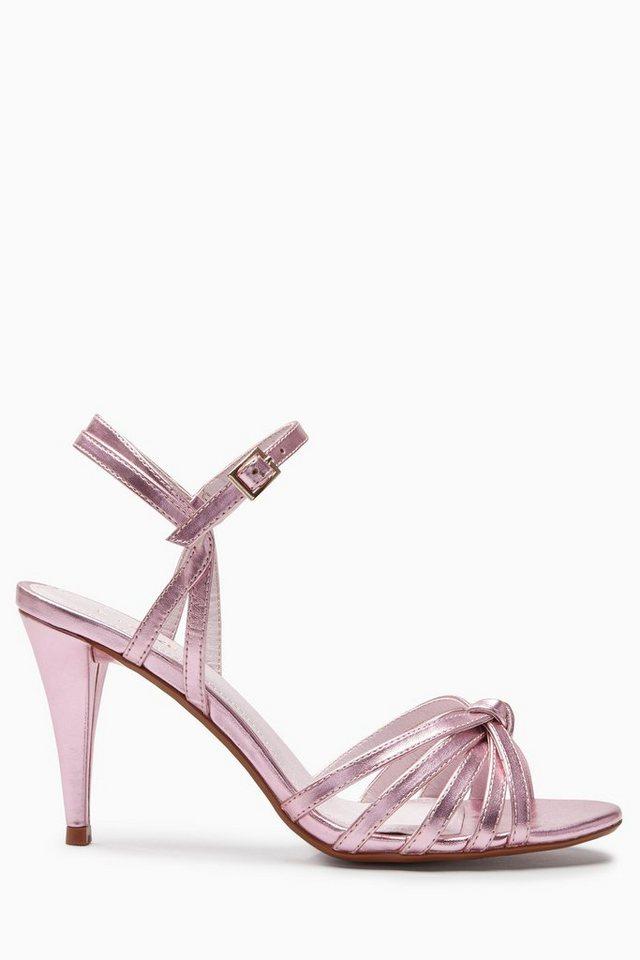 Next Riemchensandalette mit Knoten in Pink