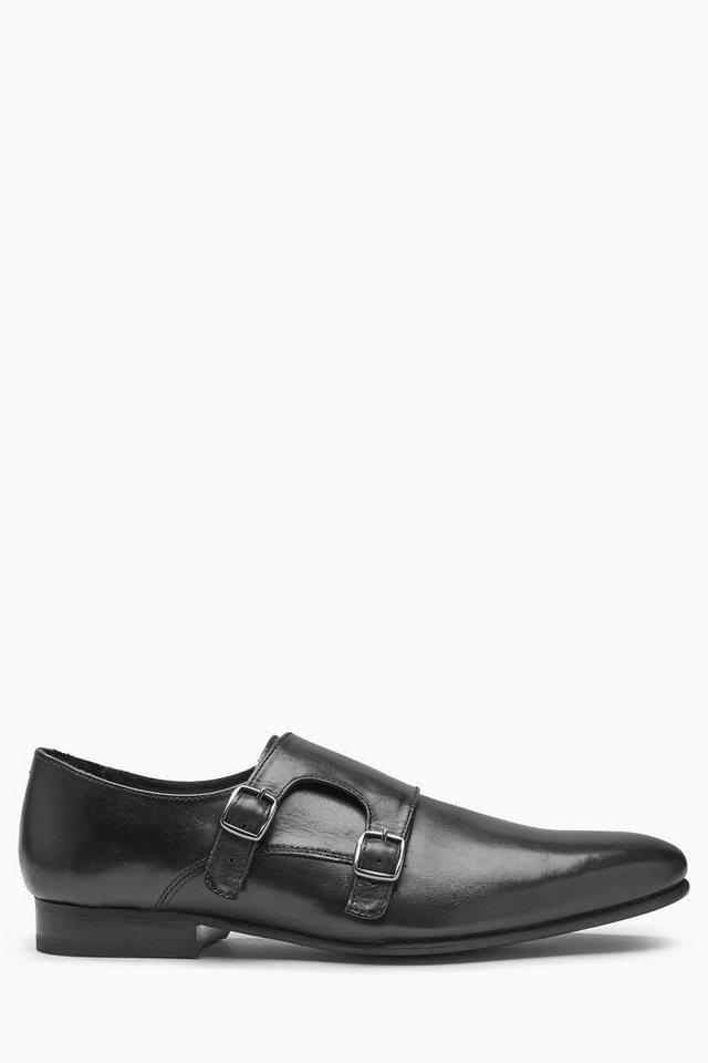 Next Schuh im Monkstrap-Stil in Black