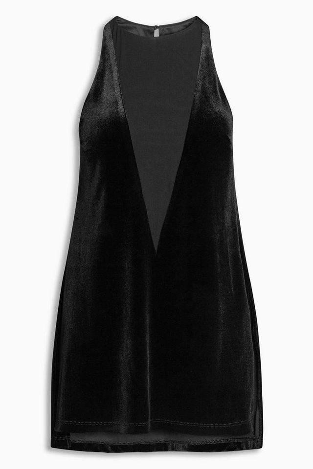 Next Tunika aus Samt in Black