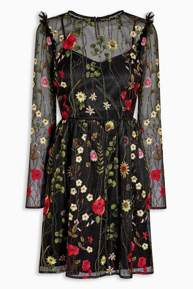 Next Kleid mit floraler Verzierung in Black