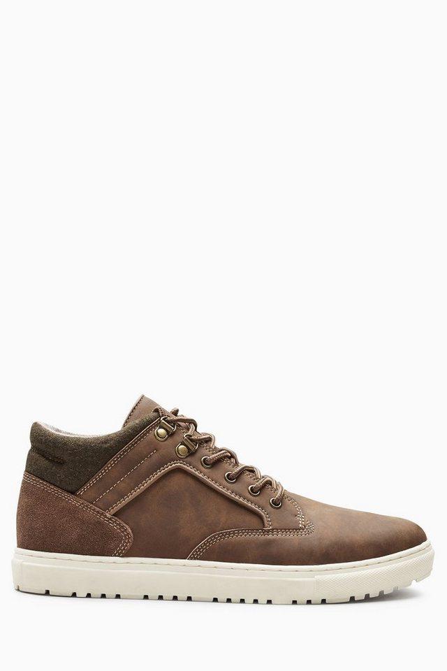 Next Mittelhoher Sneaker in Brown
