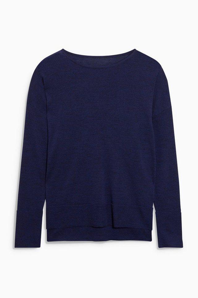 Next Kastenförmiger Pullover aus Merino in Navy
